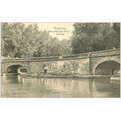 carte postale ancienne 31 TOULOUSE. Bas-relief Ponts Jumeaux