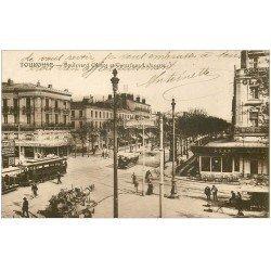 carte postale ancienne 31 TOULOUSE. Boulevard Carnot Carrefour Lafayette 1922