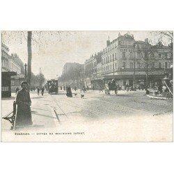 carte postale ancienne 31 TOULOUSE. Boulevard Carnot. Publicité Lunel Grande Rue à Lisieux