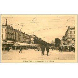 carte postale ancienne 31 TOULOUSE. Boulevard de Strasbourg vendeur ambulant