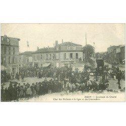 carte postale ancienne 32 AUCH. Char des Pêcheurs à la ligne et Limonadiers. Cavalcade de Charité vers 1900