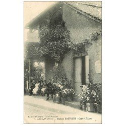carte postale ancienne 32 CHELAN. Café Tabac Astugue 1915