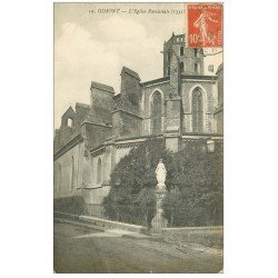 carte postale ancienne 32 GIMONT. Eglise Paroissiale 1915