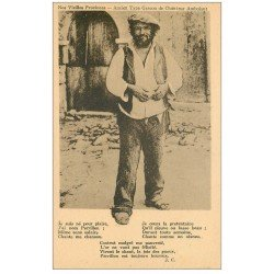 carte postale ancienne 32 LA SAUVETAT. Chanteur Ambulant. Vieux Métiers Gascons