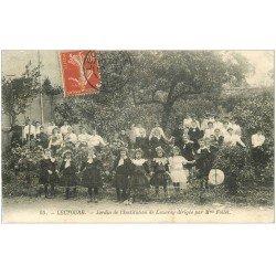 carte postale ancienne 32 LECTOURE. Enfants Jardin Institution de Luzarey 1907