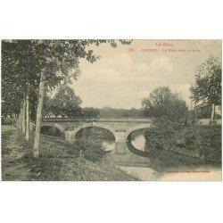carte postale ancienne 32 LOMBEZ. Pont sur la Save 1918