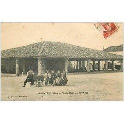 carte postale ancienne 32 MAUVEZIN. Vieille Halle 1909