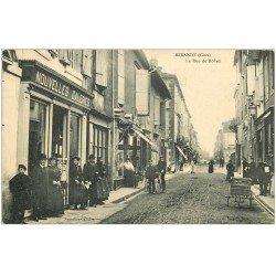 carte postale ancienne 32 MIRANDE. Magasin de Cartes Postale Nouvelles Galeries rue de Rohan
