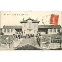 carte postale ancienne 32 MONFERRAN. Mairie Groupe Scolaire
