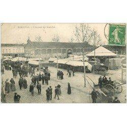 carte postale ancienne 32 SAMATAN. Jour de Marché 1913