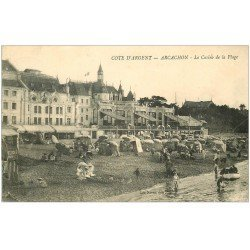 carte postale ancienne 33 ARCACHON. Casino Plage 1911