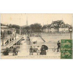 carte postale ancienne 33 ARCACHON. Jetée Promenade de la Chapelle 1917