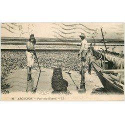 carte postale ancienne 33 ARCACHON. Parc aux Huîtres 1940