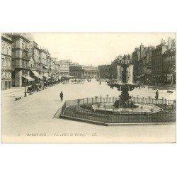 carte postale ancienne 33 BORDEAUX. Allée Tourny 1904