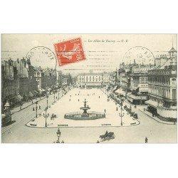 carte postale ancienne 33 BORDEAUX. Allées Tourny 1911