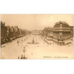 carte postale ancienne 33 BORDEAUX. Allées Tourny 1921