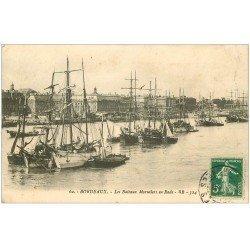 carte postale ancienne 33 BORDEAUX. Bateaux Morutiers 1912