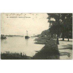 carte postale ancienne 33 BORDEAUX. Bords Garonne 1907