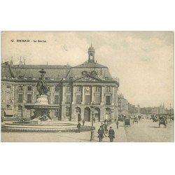 carte postale ancienne 33 BORDEAUX. Bourse 1910