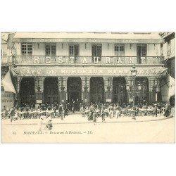 carte postale ancienne 33 BORDEAUX. Café Restaurant 1906 l'heure de l'Absinthe