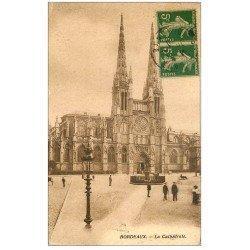carte postale ancienne 33 BORDEAUX. Cathédrale 1910