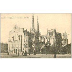 carte postale ancienne 33 BORDEAUX. Cathédrale 1917