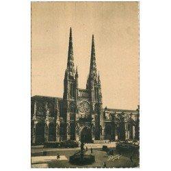 carte postale ancienne 33 BORDEAUX. Cathédrale 1947