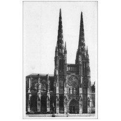 carte postale ancienne 33 BORDEAUX. Cathédrale Flèches 1942