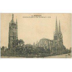 carte postale ancienne 33 BORDEAUX. Cathédrale Saint-André 1925 CB 114