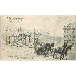 carte postale ancienne 33 BORDEAUX. Char des Chasselas Fête Vendanges. La Petite Gironde