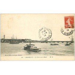 carte postale ancienne 33 BORDEAUX. Coin de la Rade 1914