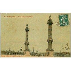 carte postale ancienne 33 BORDEAUX. Colonnes Rostrales 1908. Edition de Luxe Aux Dames de France