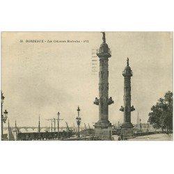carte postale ancienne 33 BORDEAUX. Colonnes Rostrales 1922