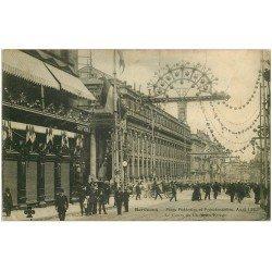 carte postale ancienne 33 BORDEAUX. Cours Chapeau Rouge. Fêtes Fédérales et Présidentielles 1905