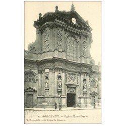 carte postale ancienne 33 BORDEAUX. Eglise Notre-Dame n°22
