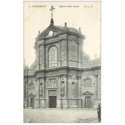 carte postale ancienne 33 BORDEAUX. Eglise Notre-Dame n°7