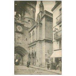 carte postale ancienne 33 BORDEAUX. Eglise Saint-Eloi rue Saint-James 1903