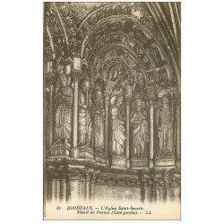 carte postale ancienne 33 BORDEAUX. Eglise Saint-Seurin Portail détail