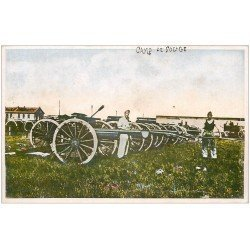 carte postale ancienne 33 CAMP DE SOUGE. Artillerie groupe de 75