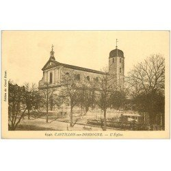 carte postale ancienne 33 CASTILLON. L'Eglise 1944