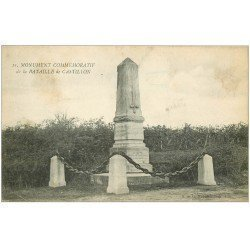 carte postale ancienne 33 CASTILLON. Monument Bataille n° 11