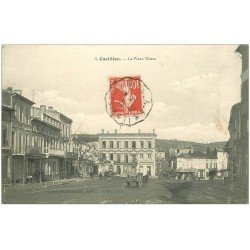 carte postale ancienne 33 CASTILLON. Place Thiers 1909