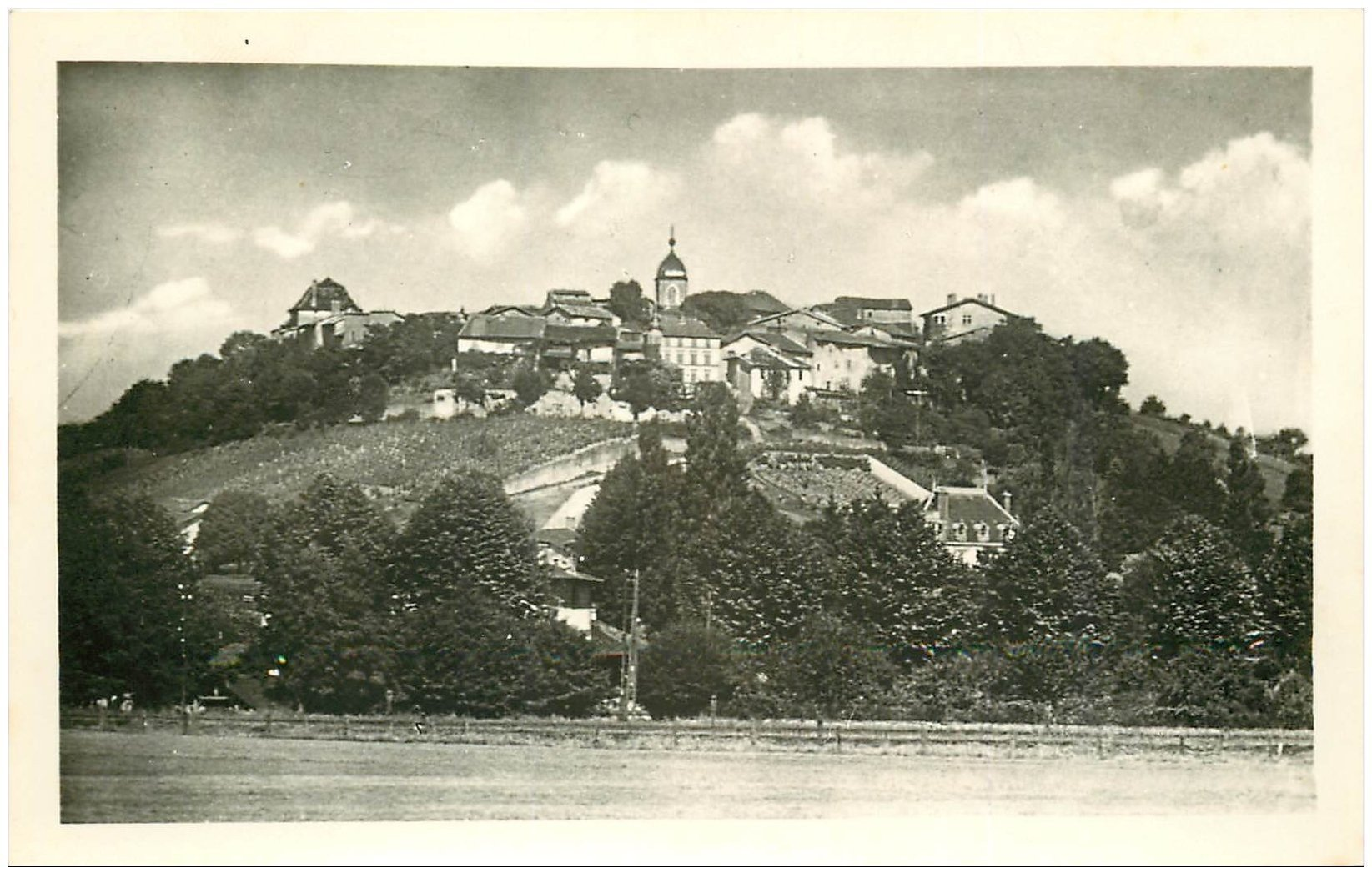 carte postale ancienne 01 PEROUGES. Vue d'ensemble carte photo