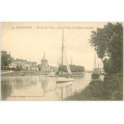 carte postale ancienne 33 LIBOURNE. Grand Port Allées Souchet