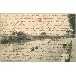 carte postale ancienne 33 LIBOURNE. Pont Suspendu