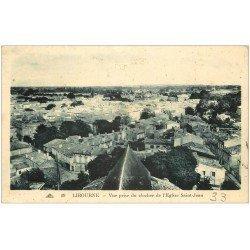 carte postale ancienne 33 LIBOURNE. Vue du Clocher 1940