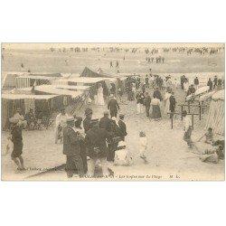 carte postale ancienne 33 SOULAC-SUR-MER. Tentes sur la Plage