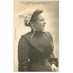 carte postale ancienne 35 CANCALE. Coiffe Jeune Fille vers 1900