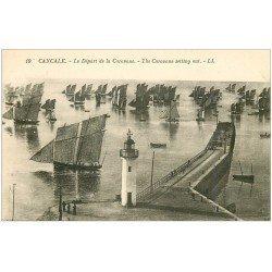 carte postale ancienne 35 CANCALE. Départ Caravane Bâteaux de Pêche 19