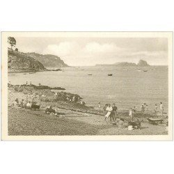 carte postale ancienne 35 CANCALE. Plage Rocher